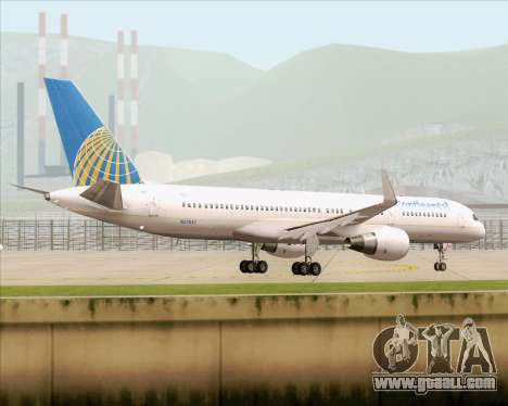 Boeing 757-200 Continental Airlines for GTA San Andreas side view