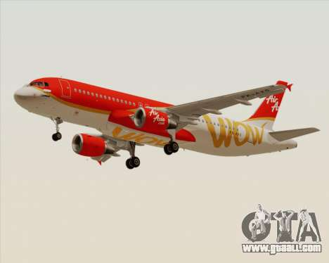 Airbus A320-200 Indonesia AirAsia WOW Livery for GTA San Andreas left view