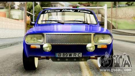 Dacia 1300 B 89 WRC for GTA San Andreas back view
