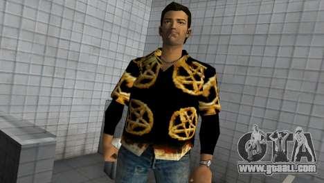 Pentagram Shirt for GTA Vice City second screenshot