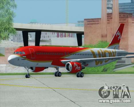 Airbus A320-200 Indonesia AirAsia WOW Livery for GTA San Andreas bottom view