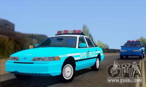 Ford Crown Victoria NYPD Blue for GTA San Andreas back left view