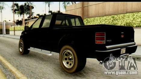 GTA 5 Vapid Sadler for GTA San Andreas left view