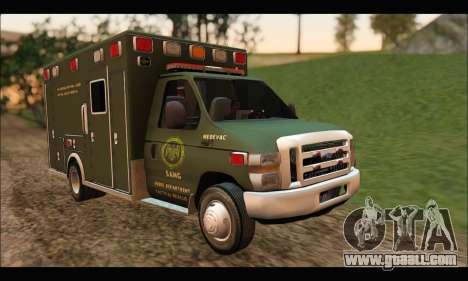 Ford E450 Ambulance SANG Tactical Rescue for GTA San Andreas