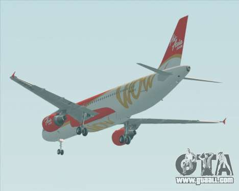 Airbus A320-200 Indonesia AirAsia WOW Livery for GTA San Andreas back view