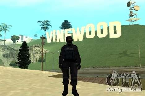 Black Police All for GTA San Andreas sixth screenshot