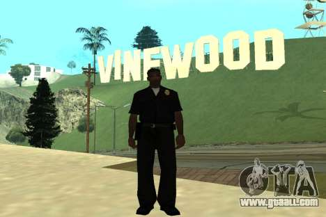 Black Police All for GTA San Andreas fifth screenshot