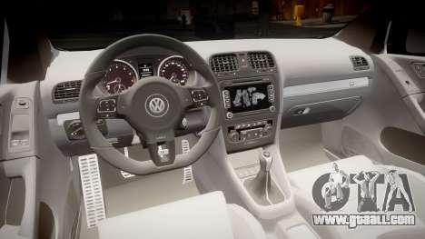 Volkswagen Golf R for GTA 4 back view