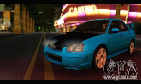Subaru Impreza WRX STI Tuning for GTA San Andreas left view