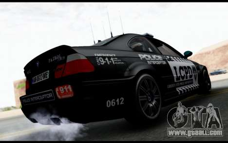 BMW M3 E46 Police for GTA San Andreas left view