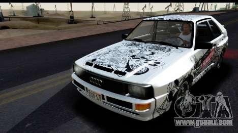 Audi Sport Quattro B2 (Typ 85Q) 1983 [IVF] for GTA San Andreas interior