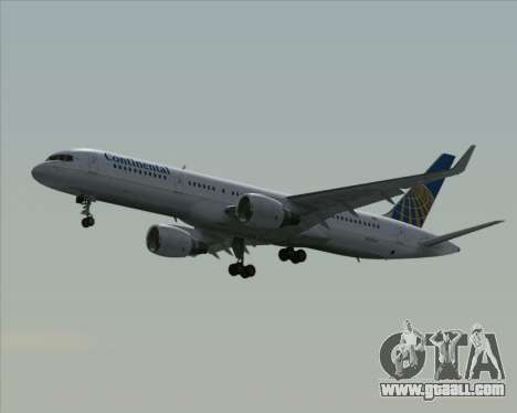Boeing 757-200 Continental Airlines for GTA San Andreas back view