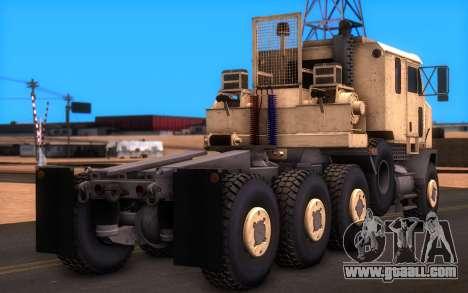 Oshkosh M1070 HET Tank Transporter for GTA San Andreas left view