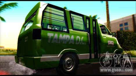 Toyota Microbus for GTA San Andreas back left view