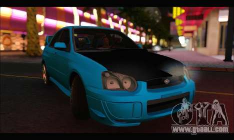 Subaru Impreza WRX STI Tuning for GTA San Andreas