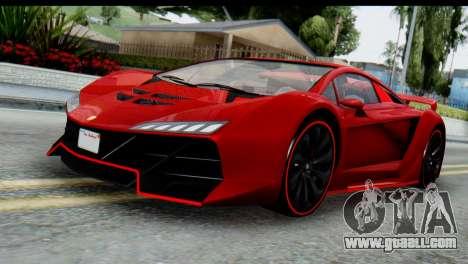 GTA 5 Pegassi Zentorno for GTA San Andreas