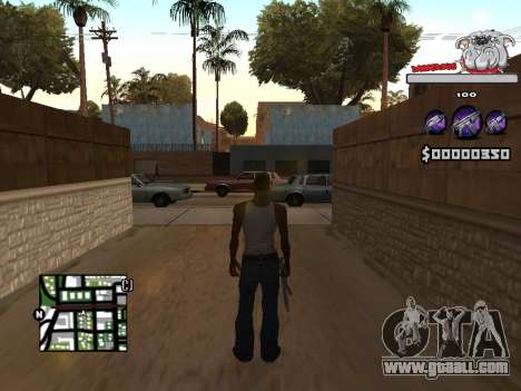 C-HUD by Sorel for GTA San Andreas second screenshot