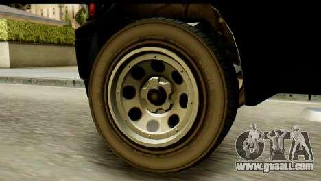 GTA 5 Vapid Sadler for GTA San Andreas back left view