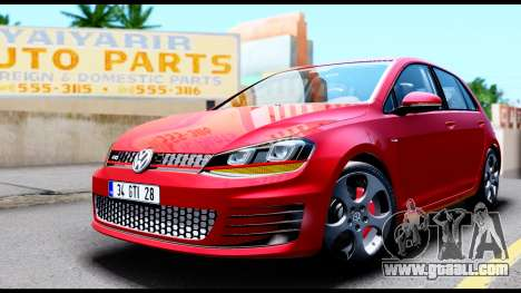 Volkswagen Golf GTI 2015 for GTA San Andreas right view