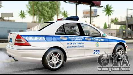 Mercedes-Benz C32 AMG ДПС for GTA San Andreas back left view