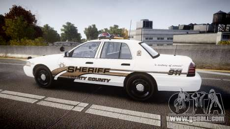 Ford Crown Victoria LCSO [ELS] Vision for GTA 4 left view