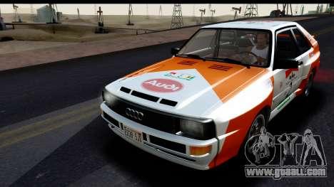 Audi Sport Quattro B2 (Typ 85Q) 1983 [IVF] for GTA San Andreas engine