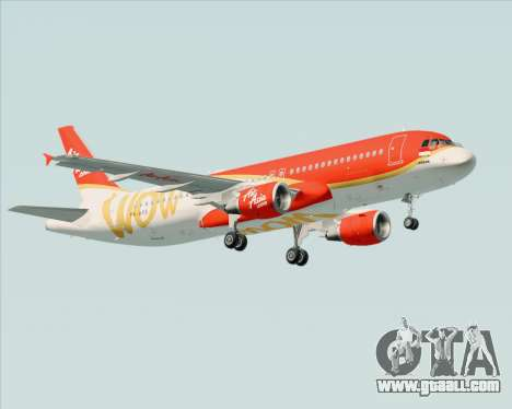 Airbus A320-200 Indonesia AirAsia WOW Livery for GTA San Andreas interior