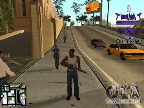 C-HUD Ballas for GTA San Andreas fifth screenshot