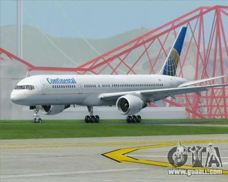 Boeing 757-200 Continental Airlines for GTA San Andreas right view