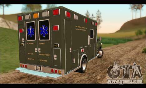 Ford E450 Ambulance SANG Tactical Rescue for GTA San Andreas back left view