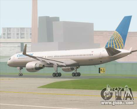 Boeing 757-200 Continental Airlines for GTA San Andreas back left view