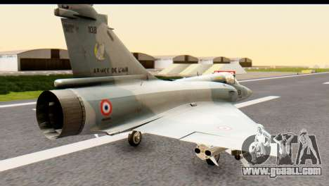 Dassault Mirage 2000-5 for GTA San Andreas left view