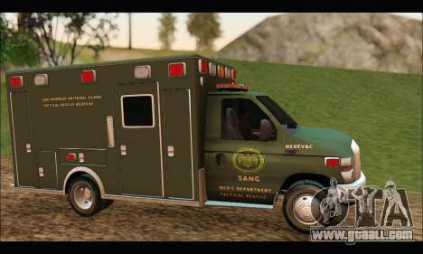 Ford E450 Ambulance SANG Tactical Rescue for GTA San Andreas left view