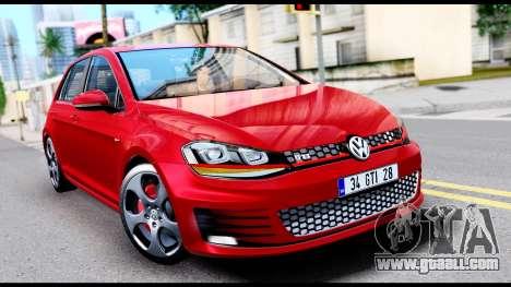 Volkswagen Golf GTI 2015 for GTA San Andreas