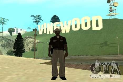 Black Police All for GTA San Andreas seventh screenshot