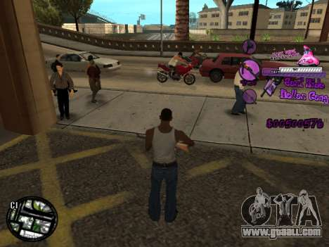 C-HUD Ballas for GTA San Andreas third screenshot