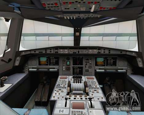 Airbus A380-800 Emirates (A6-EDJ) for GTA San Andreas inner view