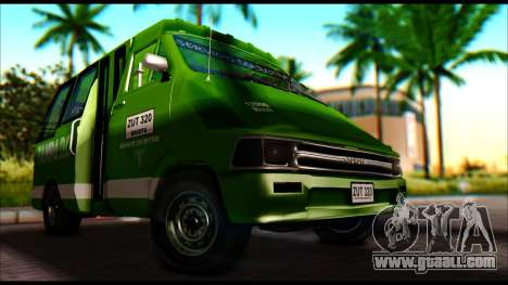 Toyota Microbus for GTA San Andreas right view