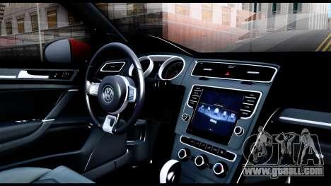 Volkswagen Golf GTI 2015 for GTA San Andreas inner view