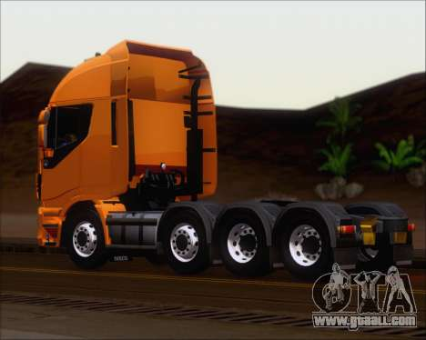 Iveco Stralis HiWay 8x4 for GTA San Andreas back left view