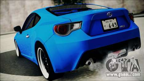 Scion FR-S for GTA San Andreas right view