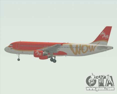 Airbus A320-200 Indonesia AirAsia WOW Livery for GTA San Andreas inner view