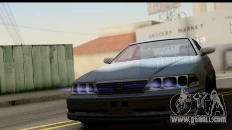 Toyota Mark 2 Stock for GTA San Andreas back left view