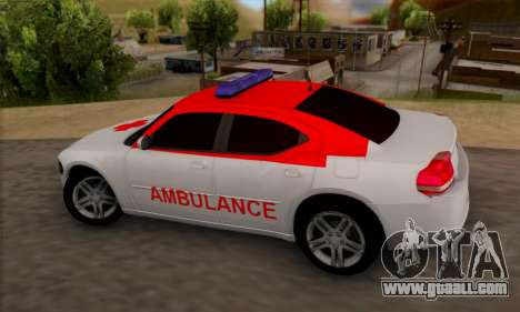 Dodgle Charger Ambulance for GTA San Andreas left view