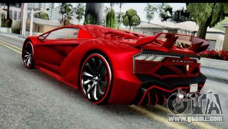 GTA 5 Pegassi Zentorno for GTA San Andreas left view