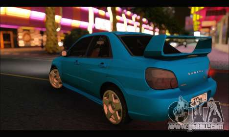 Subaru Impreza WRX STI Tuning for GTA San Andreas right view