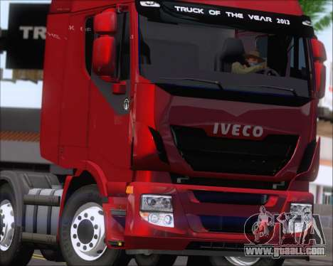 Iveco Stralis HiWay 8x4 for GTA San Andreas side view