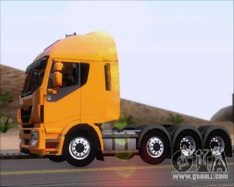 Iveco Stralis HiWay 8x4 for GTA San Andreas inner view