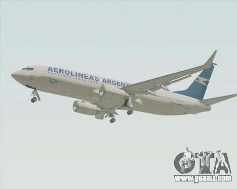 Boeing 737-800 Aerolineas Argentinas for GTA San Andreas back left view