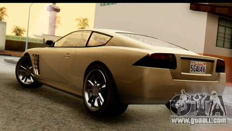 GTA 5 Ocelot F620 v2 for GTA San Andreas left view